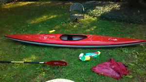 Candy Apple Red Fiberglass Racing/whitewater Kayak