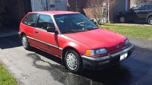 1990 Honda Civic CX Hatchback 1.6L 5spd Manual