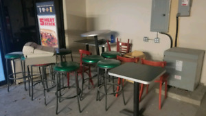 Stool, tables and chairs!