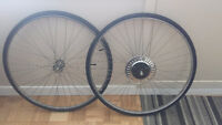 Road bike tires and rims : BRAND NEW  TIRES