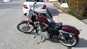 Harley Davidson sporster-rare color big red flake,alot of extras
