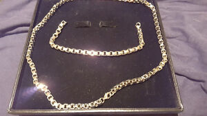Stainless Steel Men's Chain and Bracelet