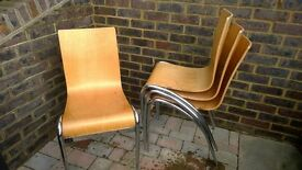 Retro wooden chairs
