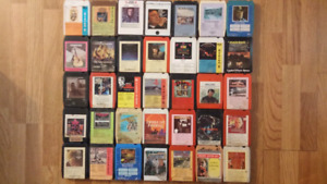 8 track tapes.(35country and western+others)