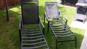 Outdoor recliner lounge chairs