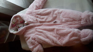 Baby girl snow suit brand new pink fur
