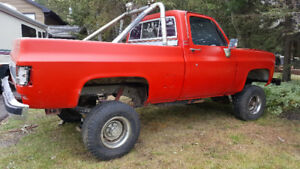 1980 red gmc 4x4 short box