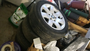 "BMW 16"" RIMS WITH 2 TIRES INCLUDED"