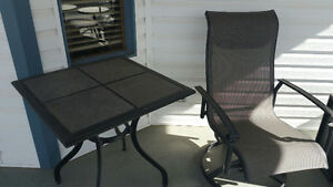 Deck Furniture - 10 pieces; Durable Mesh, Slate Tables