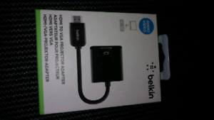 Brand New Sealed Belkin HDMI to VGA Adapter