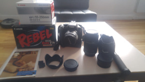 Canon EOS Rebel T3i camera kit with a lot of extras.