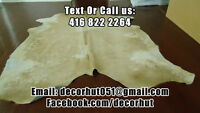 Amazing hair one cowhide rugs tanned and soft