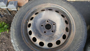 4 Used winter tires and rims