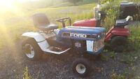 lawn tractor ford snow blower BBQ Mattress old box old door