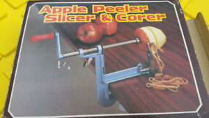Apple peeler, slicer and corer