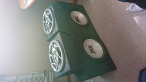 Subs, amp, speakers and sub box