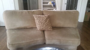 Curved loveseat
