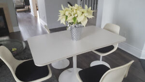 White Table and Chairs- Canadian Made