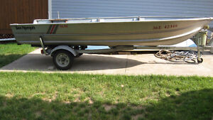 16 ft Sea Nymph Aluminum Boat,Deep and Wide