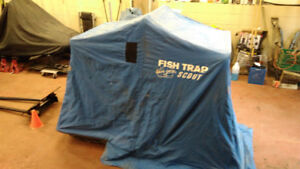 Dave Genz Fish Trap one person ice fishing hut