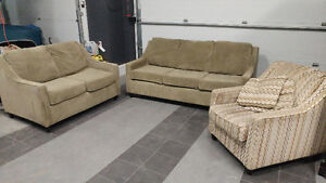 Soft Couch, Loveseat and Chair Set
