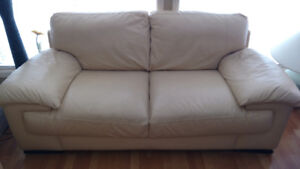 'ITALSOFA' Matching 2 & 3 SEAT LEATHER SOFAS
