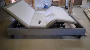 base de lit électrique ajustable pied et tète avec vibration