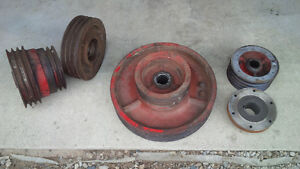 Large combine pulleys
