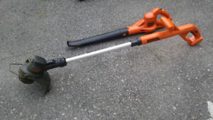 cordless grass trimmer and blower with bonus