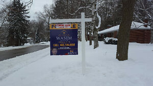 POST SIGN INSTALLATION, OPEN HOUSE SIGNS