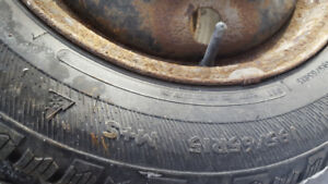 Studded Winter Tires and Rims - 195/65R15 + 2 spares