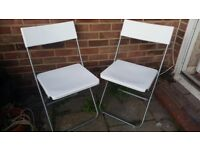X2 White Foldable Indoor/Outdoor Chairs