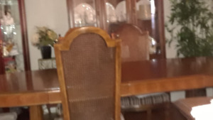 Dining Room Table, 6 Chairs,  Buffett & Hutch & Server