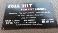 Full tilt concrete forming looking to hire