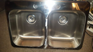 Blanco Stainless Steel Double Bowl Kitchen Sink