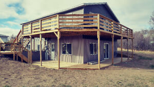 Newly-built walk-out apartment in Caron, SK