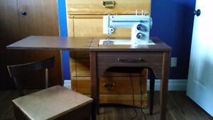 Sears Kenmore Sewing Machine with folding table and seat