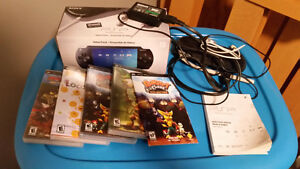 PSP with games and accessories