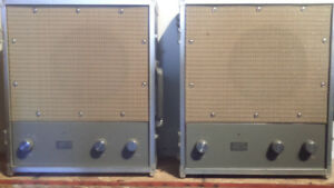 1950s Ampex 1220 Suitcase Amps Antique Silver