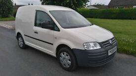 2009 VW CADDY 1.9 TDi 104 C20 SWB ** NO VAT, ONLY 69K, FSH, AIR CON, SUPERB ***