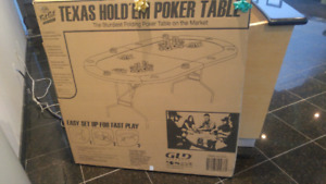 Fat Cat Folding Texas Hold'em/Casino Game Table