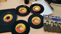 Set of 45RPM Beatles Records