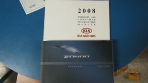 2008  Kia Rondo Owner Manual & Service Book