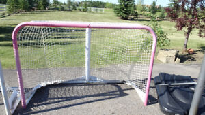 Full sized hockey nets, two available