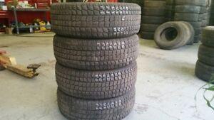 Set of 4 Firestone Firehawk Winter 225/60R18 WINTER tires (60% t