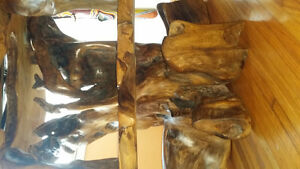 One of a kind exotic   wood carved tv stand Kingston Kingston Area image 7