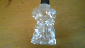 Vintage Glass Dog Decanter