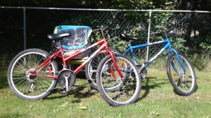 NEW PRICE 18spd Bicycles (8/10 condition). BIKE TRAILER SOLD