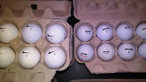 Golf balls, used, clean