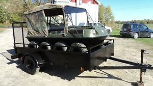 Argo Conquest 8x8 with 5x12 trailer